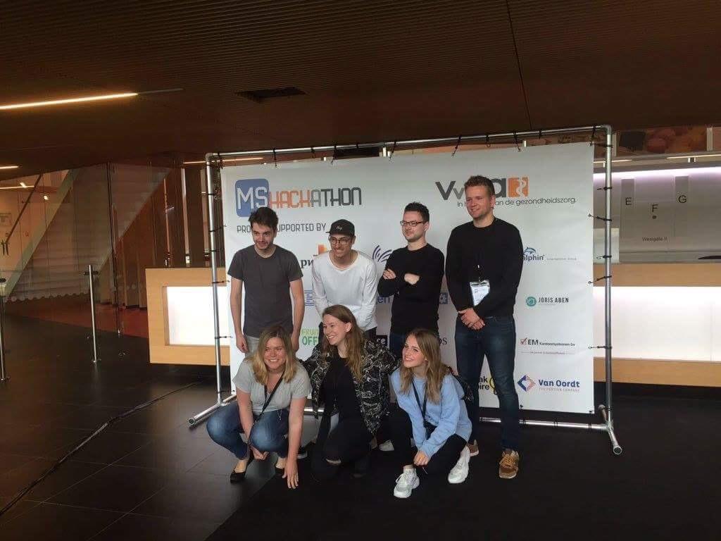 Wietske hackt tijdens HackAMSterdam
